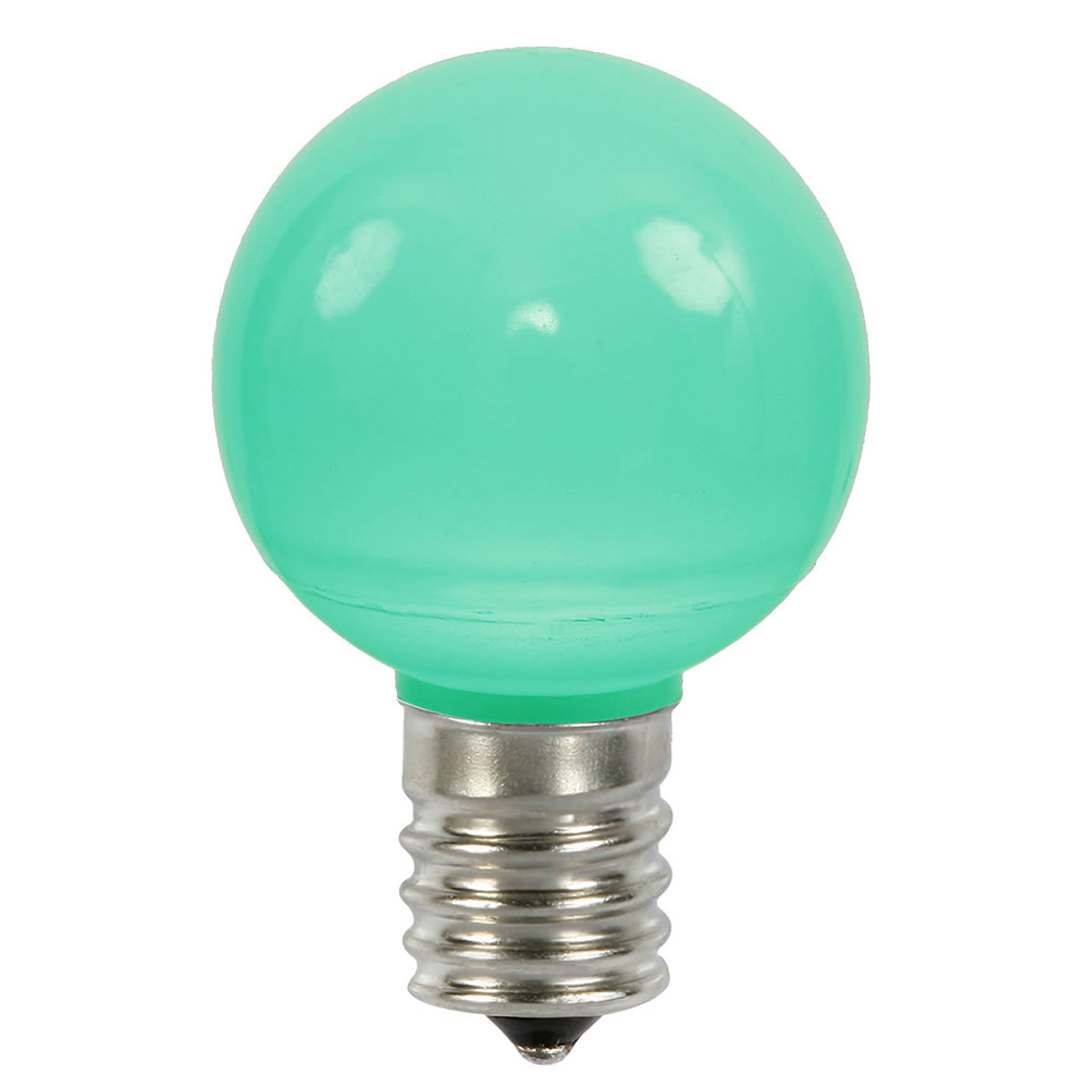 25 LED G50 Globe Green Ceramic Retrofit C9 Socket Replacement Bulbs