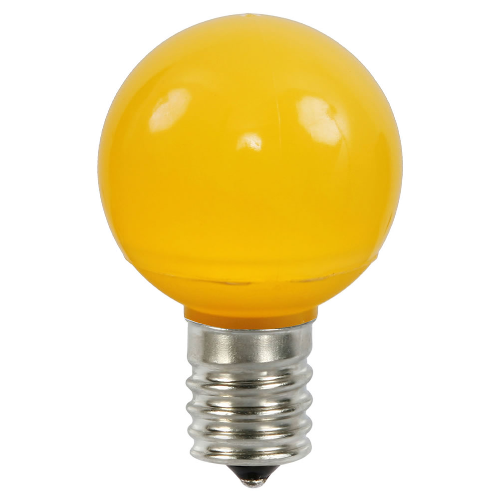 25 LED G50 Globe Yellow Ceramic Retrofit C9 Socket Replacement Bulbs