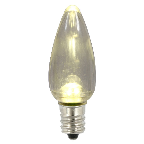 25 LED C9 Warm White Transparent Twinkle Retrofit Replacement Bulbs