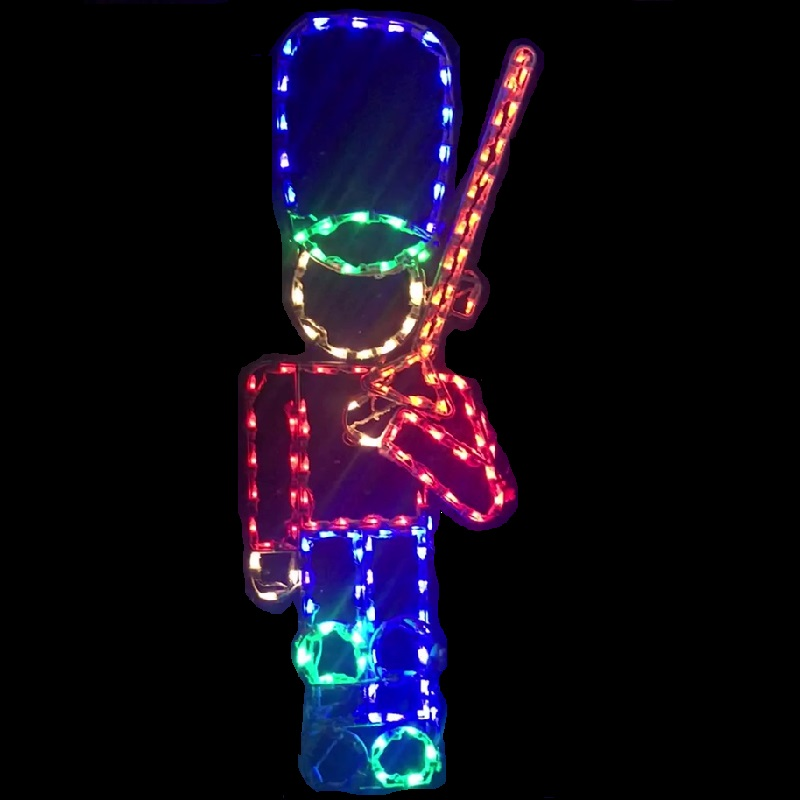 Animated Marching Soldier With Rifle Outdoor Christmas Decoration LED M5 Mini Lights