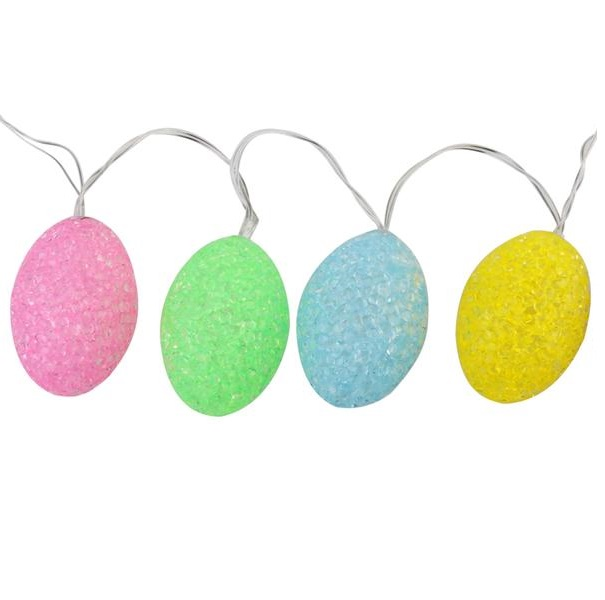 10 Sparkling Egg Mini Incandescent Easter Light Set