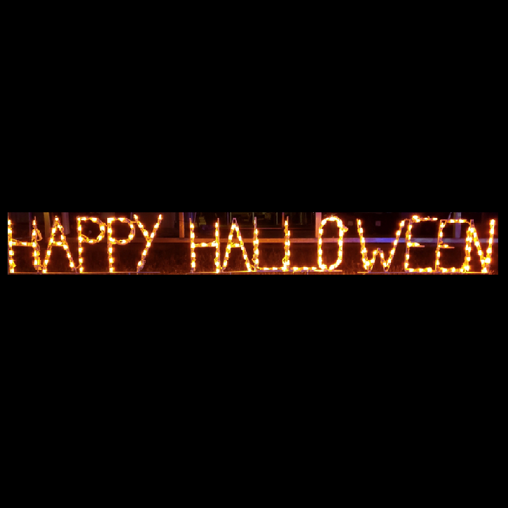 Happy Halloween LED Lighted Outdoor Halloween Decoration