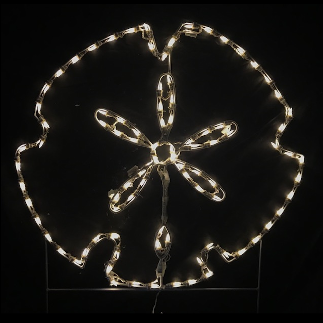 Sand Dollar LED Lighted Outdoor Nautical Decoration
