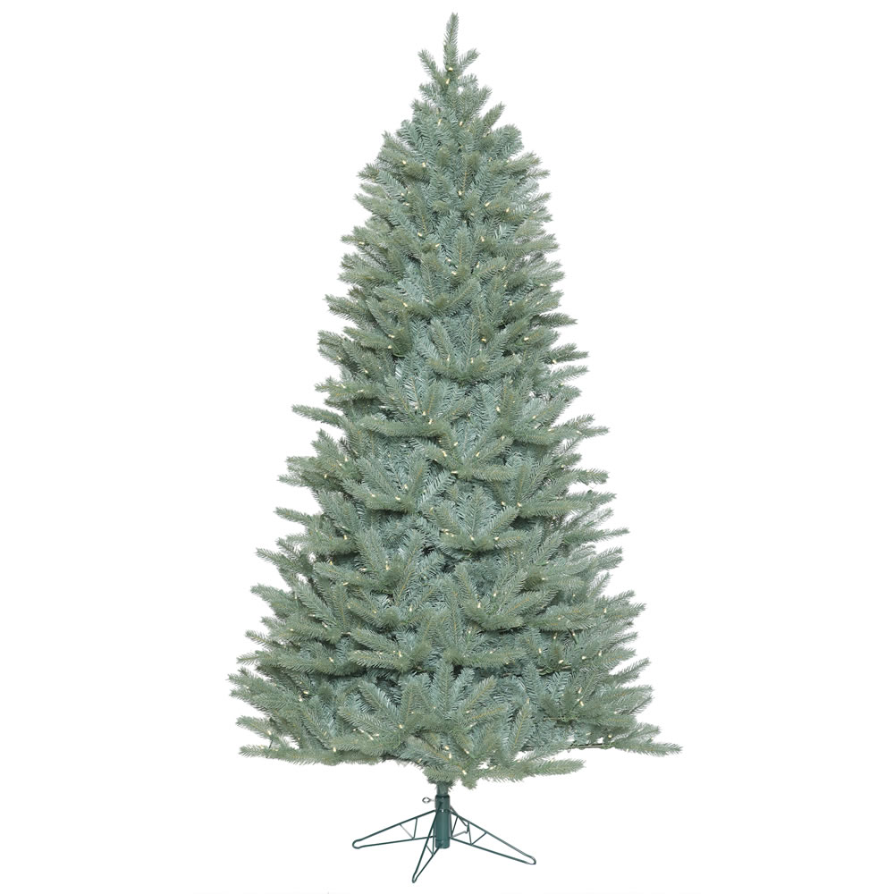 15 Foot Colorado Blue Spruce Slim Artificial Commercial Christmas Tree 3300 LED M5 Italian Warm White Mini Lights