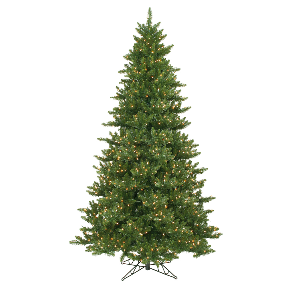 15 Foot Camdon Fir Artificial Commercial Christmas Tree 3350 DuraLit LED M5 Italian Warm White Mini Lights