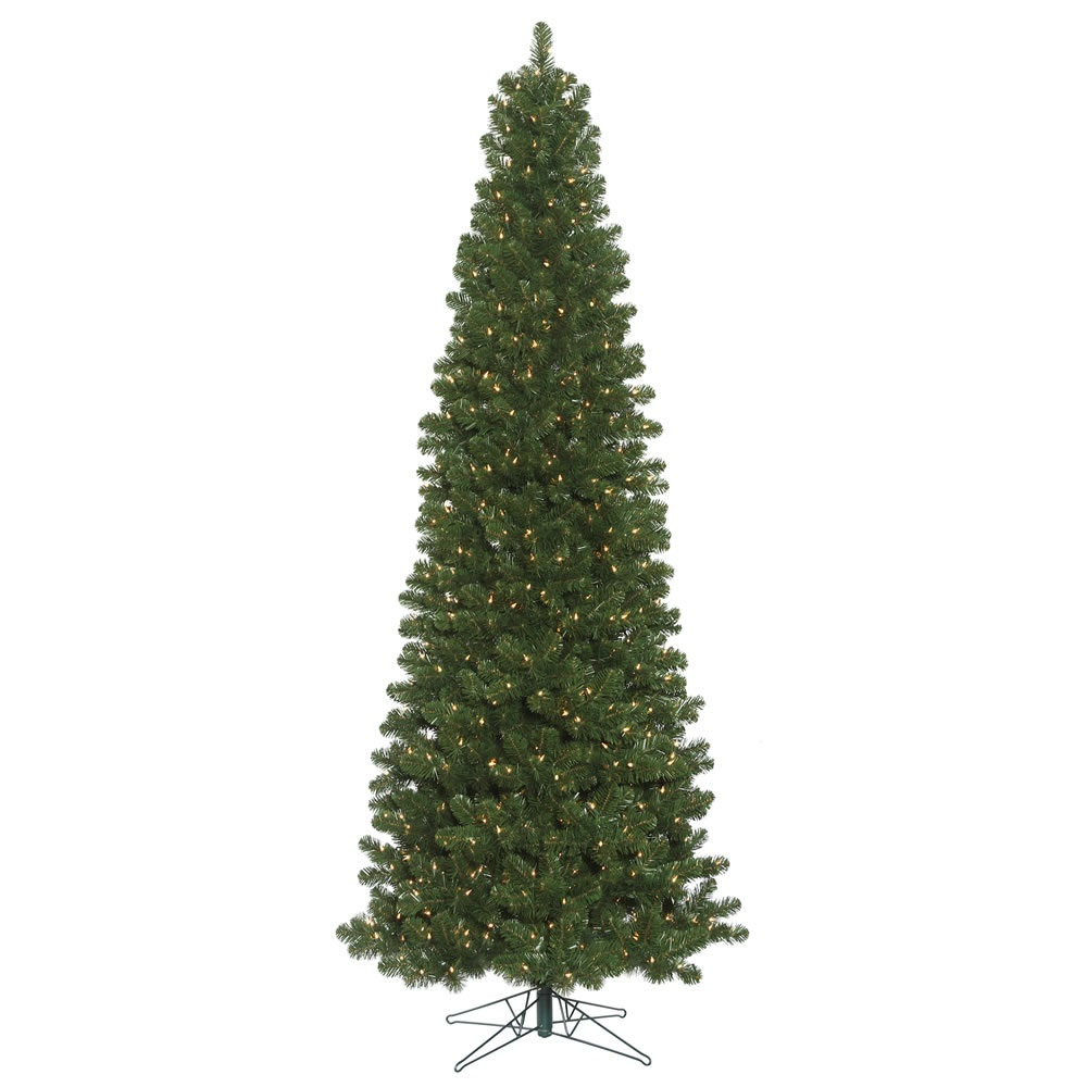 16 Foot Oregon Fir Slim Artificial Commercial Christmas Tree 2400 LED 5MM Wide Angle Warm White Lights