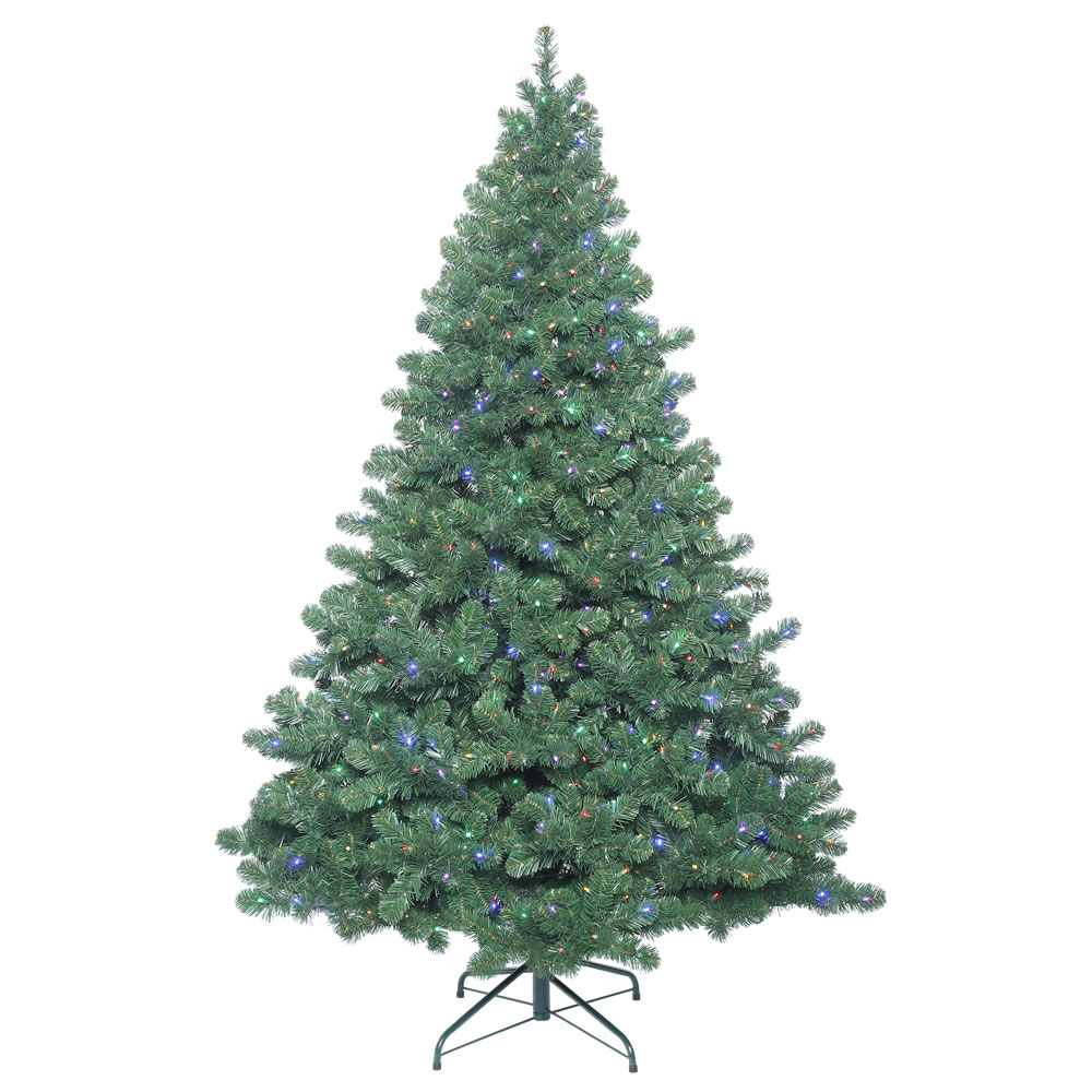 8.5 Foot Oregon Fir Artificial Christmas Tree 1150 LED 5MM Wide Angle Multi Color Lights