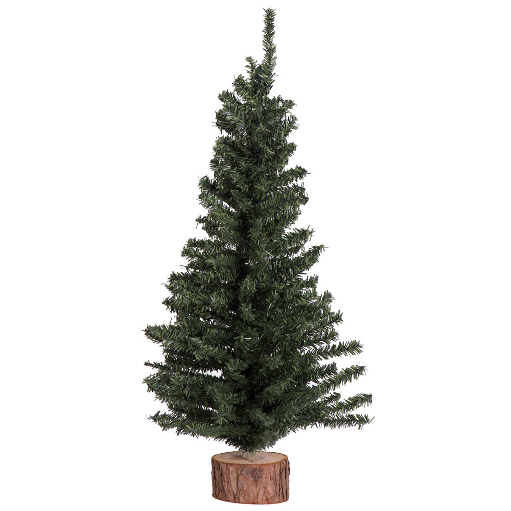 12 Inch Mini Pine Artificial Christmas Tree Wood Base