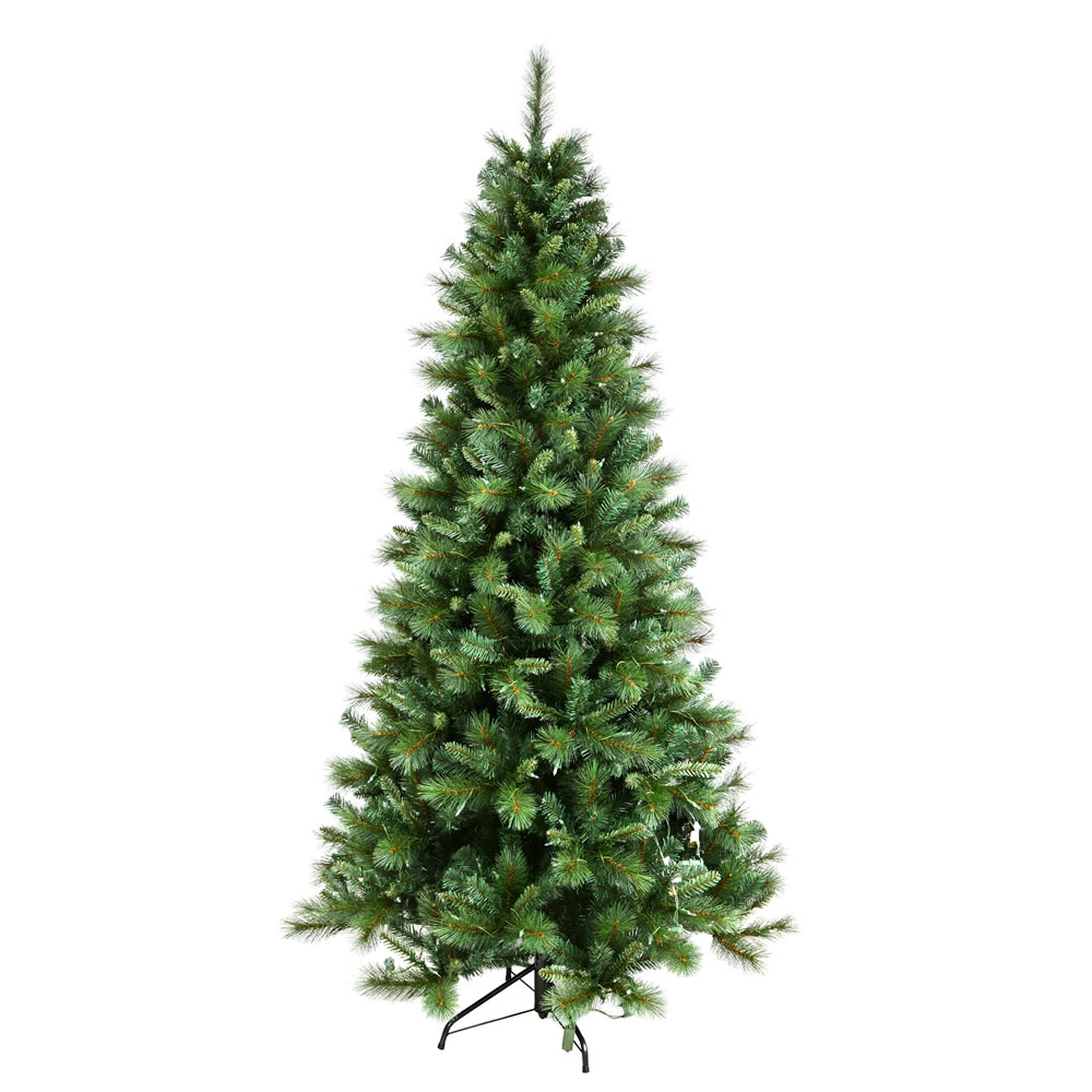 15 Foot Mixed Brussels Pine Slim Artificial Commercial Christmas Tree Unlit