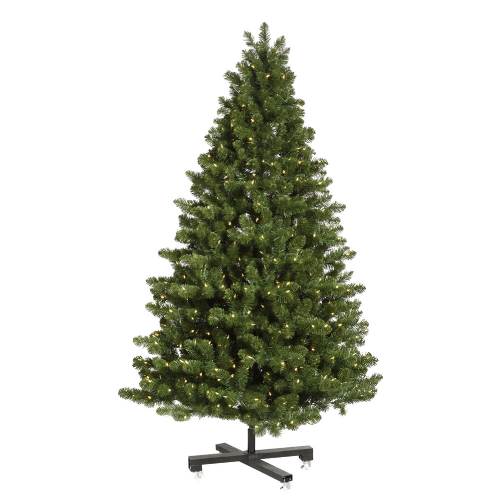 15 Foot Medium Grand Teton Artificial Commercial Christmas Tree 2700 LED 5MM Wide Angle Polka Dot Warm White Lights