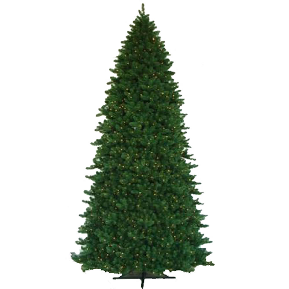 15 Foot Grand Teton Artificial Commercial Christmas Tree 3500 DuraLit Incandescent Clear Mini Lights