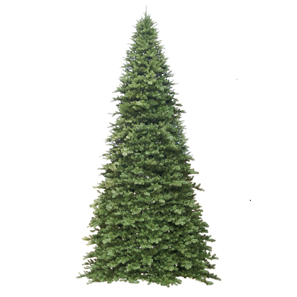 16 Foot Grand Teton Slim Artificial Commercial Christmas Tree Unlit