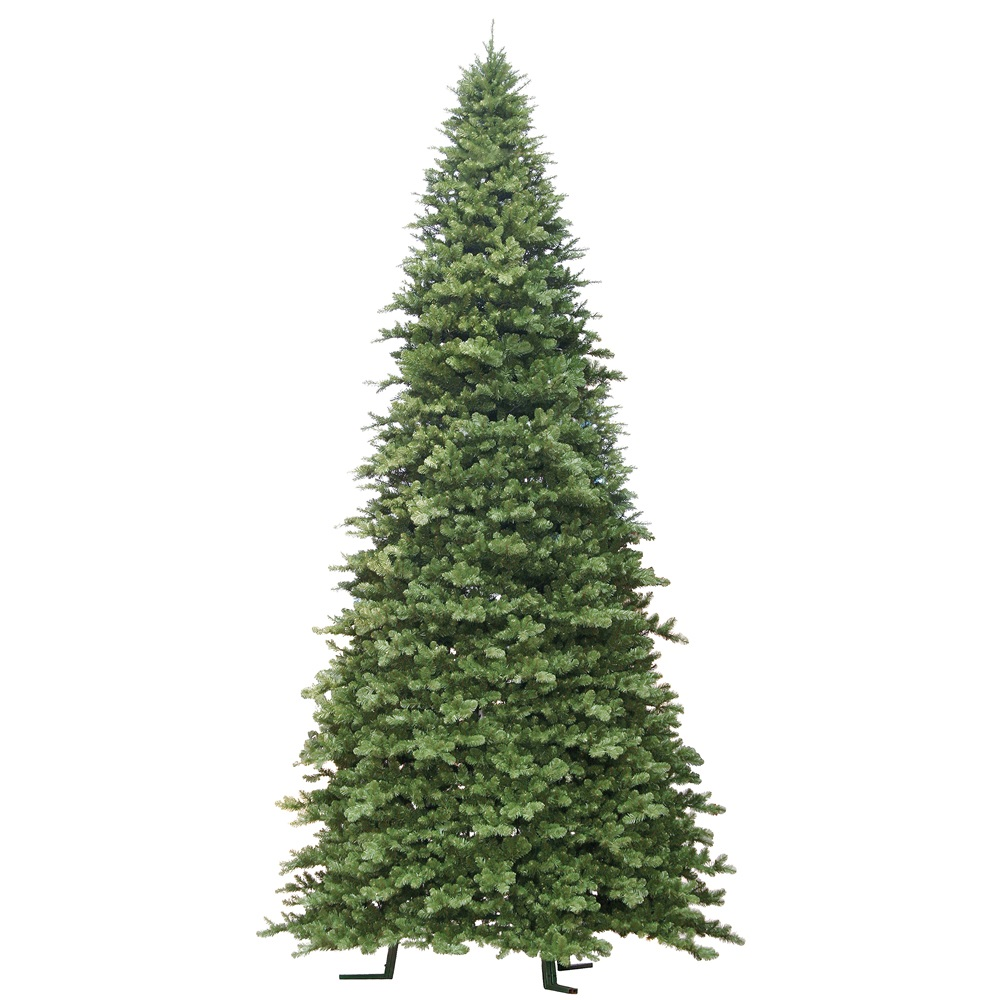 18 Foot Grand Teton Slim Artificial Commercial Christmas Tree Unlit