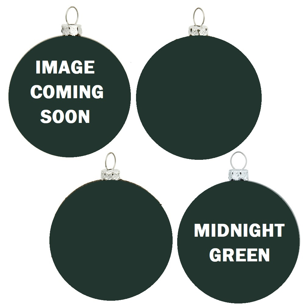 12 Inch Midnight Green Round Christmas Ball Ornament Shatterproof Set of 4 Assorted Finishes