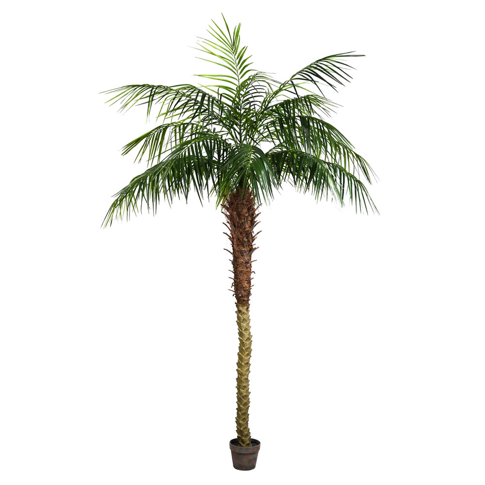 7 Foot Green Phoenix Artificial Potted Palm Tree Unlit
