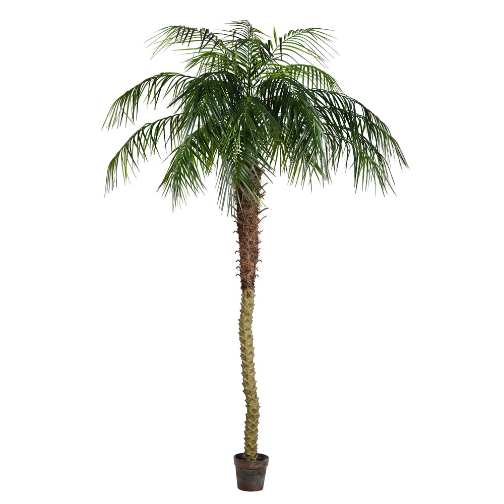 8 Foot Green Phoenix Artificial Potted Palm Tree Unlit