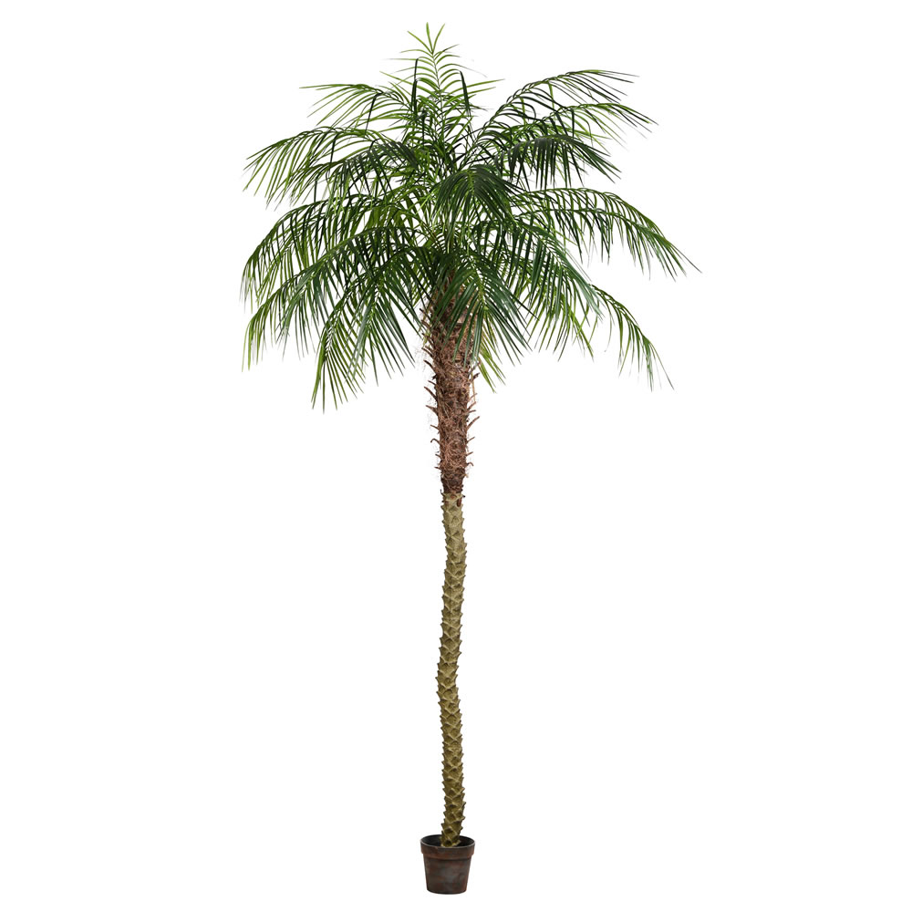 9 Foot Green Phoenix Artificial Potted Palm Tree Unlit