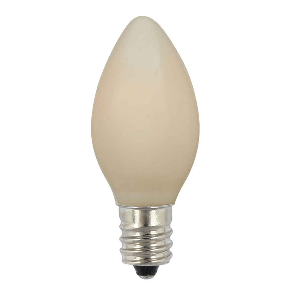 25 Incandescent C7 White Ceramic Retrofit Night Light Replacement Bulbs