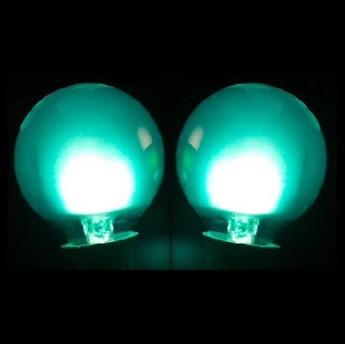 25 LED G40 Globe Teal Ceramic Retrofit Night Light C7 Socket Replacement Bulbs
