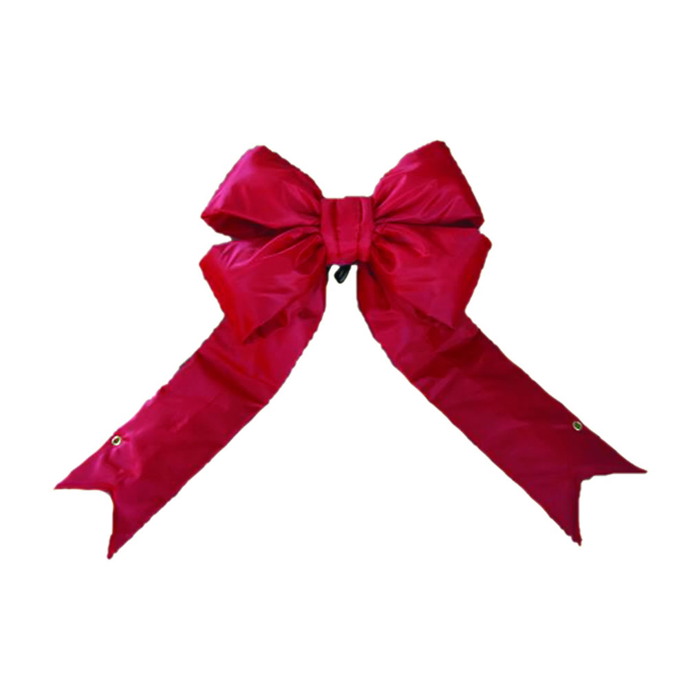 23 Inch Red Four Loop Nylon Structural Outdoor Christmas Bow