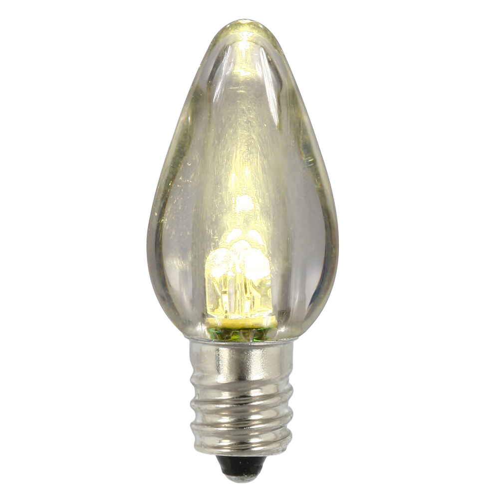 25 C7 LED Warm White Transparent Retrofit C7 E12 Socket Christmas Night Light Replacement Bulbs