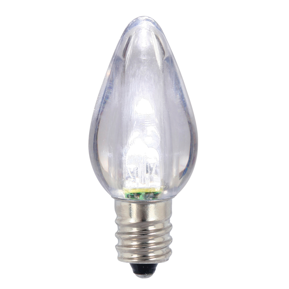 25 C7 LED Cool White Transparent Retrofit C7 E12 Socket Christmas Night Light Replacement Bulbs