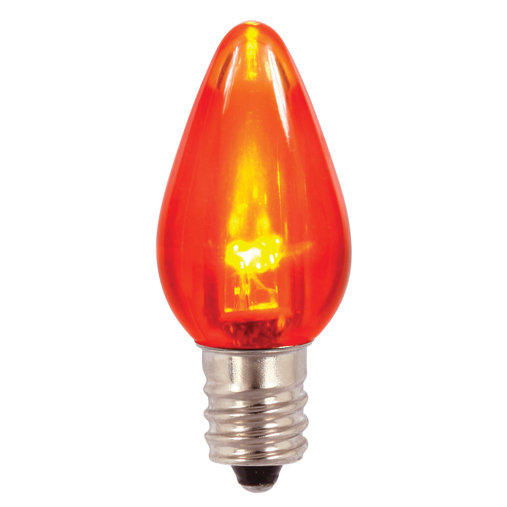 25 C7 LED Orange Transparent Retrofit C7 E12 Socket Halloween Night Light Replacement Bulbs
