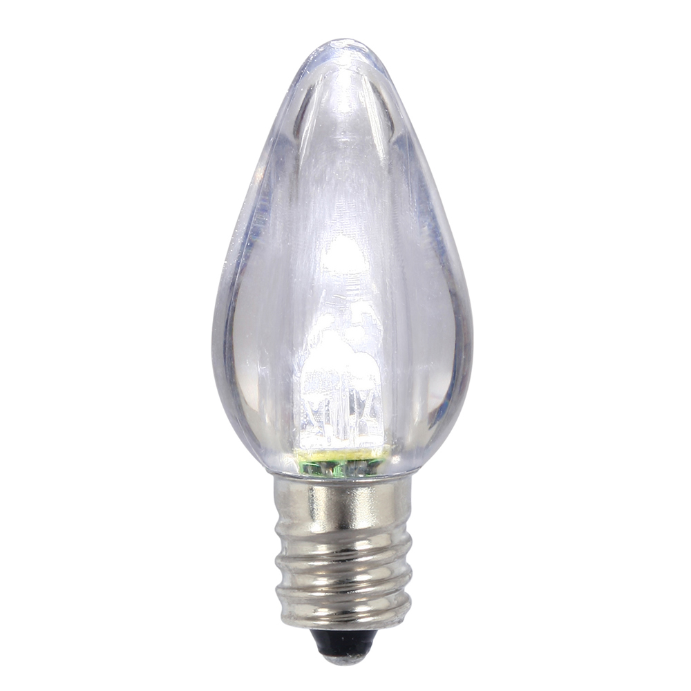 25 C7 LED Pure White Transparent Retrofit C7 E12 Socket Christmas Night Light Replacement Bulbs