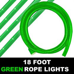 18 Foot Green Rope Lights 216 Lights Box of 6