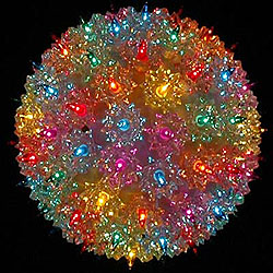 7 Inch Outdoor Lighted Sphere 100 Multi Lights Box of 3