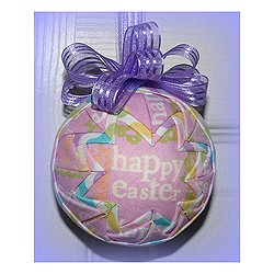 Happy Easter Decorations Round Ornament