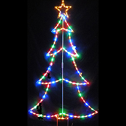 christmas tree outline pick your color led lighted outdoor christmas decoration - Christmas Light Up Window Decorations