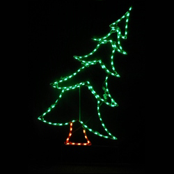 Christmas Tree Swaying Small LED Lighted Lawn Decoration