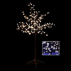 5 Foot Cherry Blossom Tree 180 LED Warm White Lights