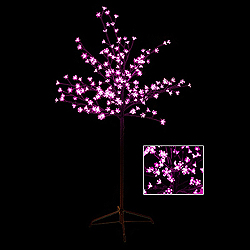 5 Foot Cherry Blossom Tree 180 LED Pink Lights