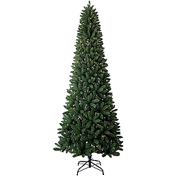 9 Foot Slim Artificial Christmas Tree 450 Clear Lights