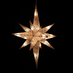 18 Inch 3D White Mica Star Of Bethlehem 20 Lights Box of 4
