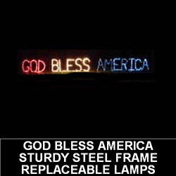 God Bless America Outdoor Lighted Lawn Decoration