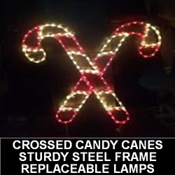 Double Candy Cane Lighted Outdoor Christmas Decoration