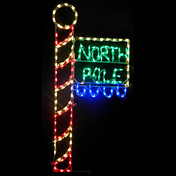 north pole flag led lighted outdoor christmas decoration - North Pole Christmas Decorations