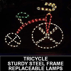 Tricycle LED Lighted Outdoor Lawn Decoration