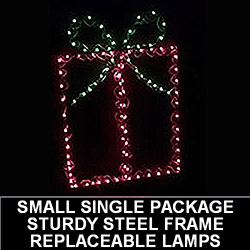 Gift Box Pick Your Color LED Lighted Outdoor Christmas Decoration