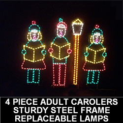 Lighted outdoor decorations lighted winter decorations caroling victorian family with lamp post led lighted outdoor lawn decoration aloadofball
