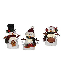11 Inch LED Lighted Snowmen Figurines Box of 3