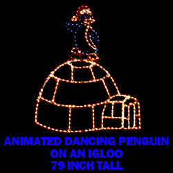 Animated Dancing Penguin On Igloo LED Lighted Outdoor Christmas Decoration