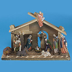 9.5 Inch 11 Piece Nativity Set Box of 2