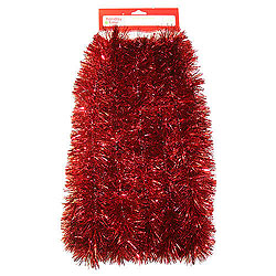 30 Foot Red Tinsel Garland 2.5 Inch Diameter Box of 6