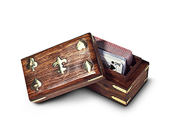 2 Deck Wooden Card Box