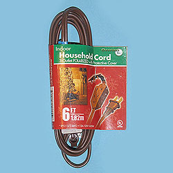 6 Foot Indoor Extension Cord Brown Wire Box of 10
