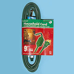 9 Foot Indoor Extension Cord Green Wire Box of 10
